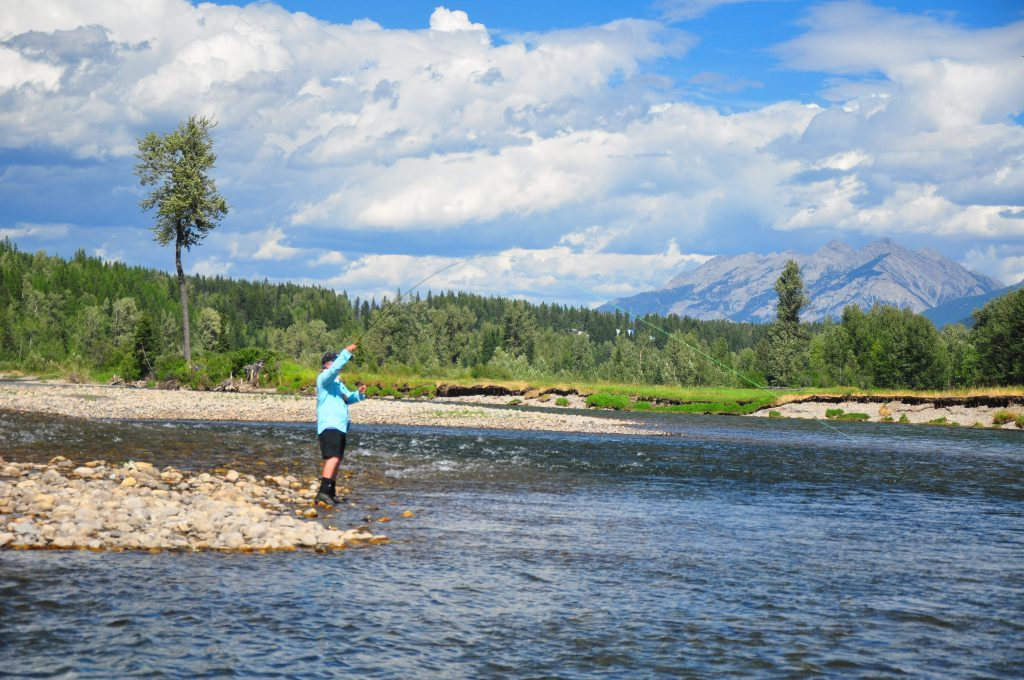 Fly-fishing The Elk River
