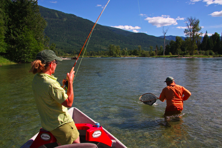 Lisa and Dave in action on The Slocan River