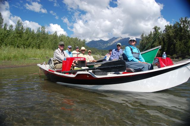 A group of people going out fly fishing