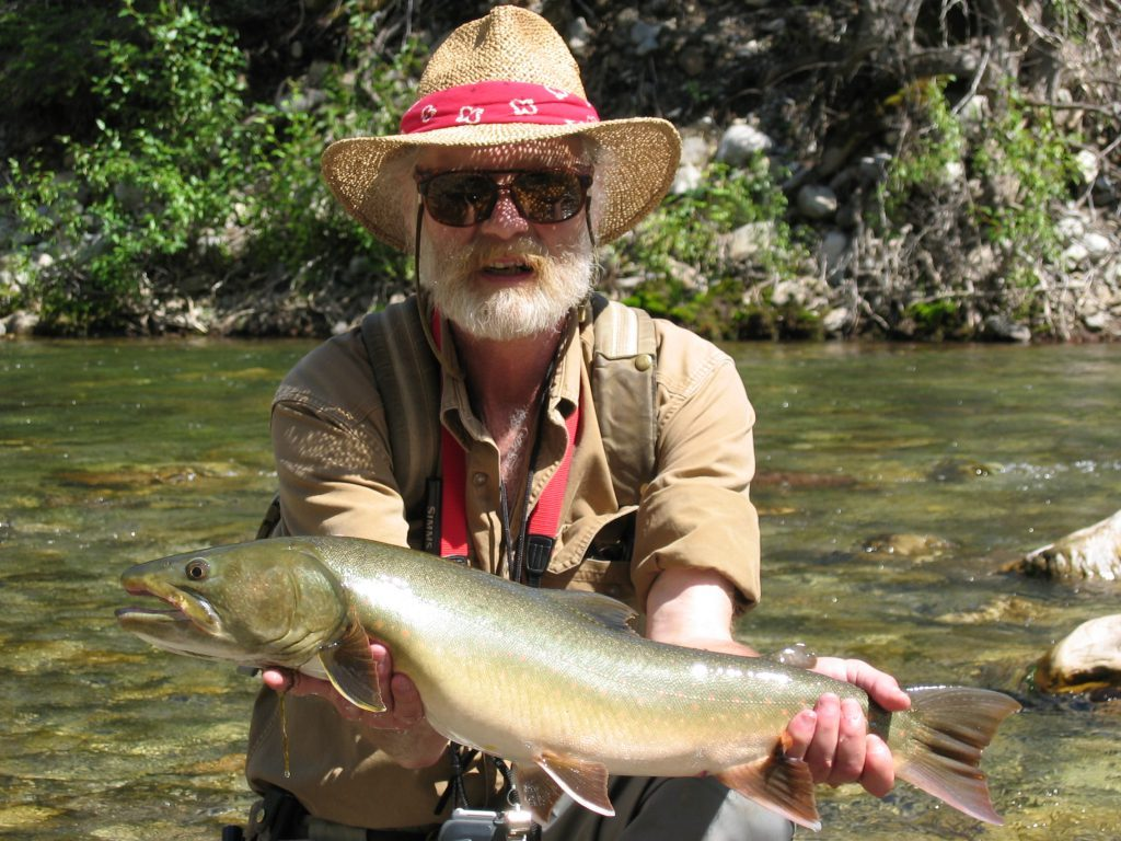 John Gierach with a Wigwam River Bull Trout
